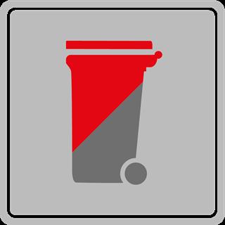 graue rote Tonne Restabfall