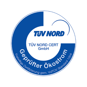 TÜV Nord geprüfter Ökostrom